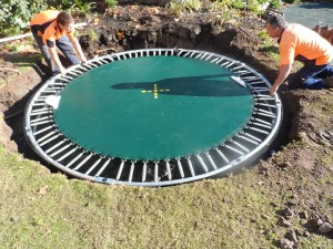 What to do with your old trampoline oz trampolines blog for Repurpose inground swimming pool