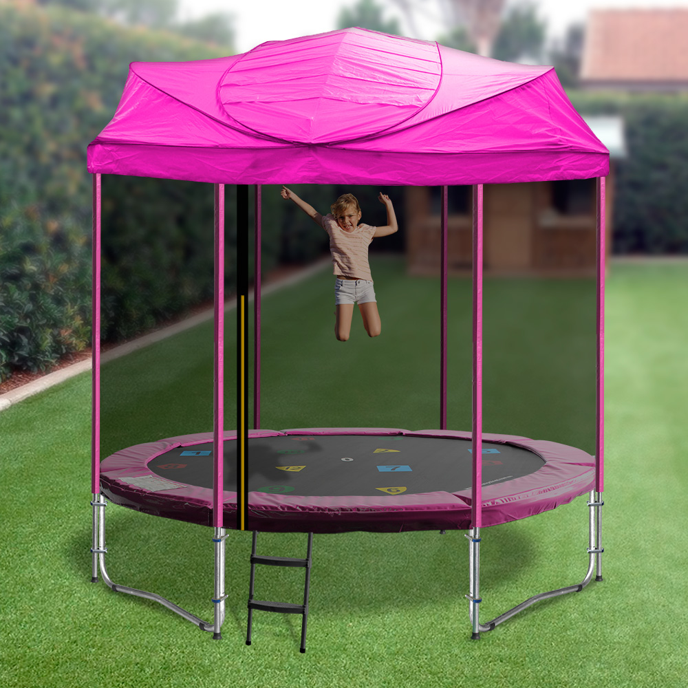 oztrampolines-6fttrampolinewithroof-390-01-pink