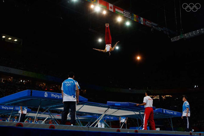 Trampoline jumping olympics
