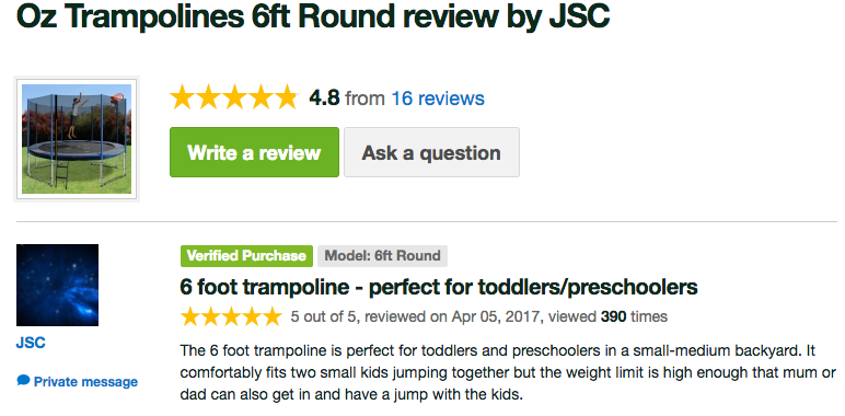 Oz Trampolines - Customers Love Their Oz Trampoline3