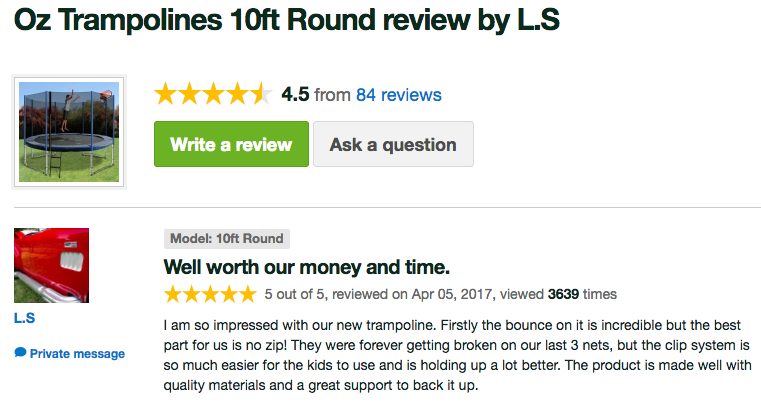 Oz Trampolines - Customers Love Their Oz Trampoline7