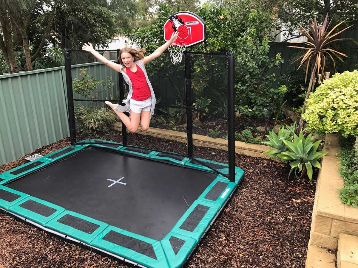 trampoline jumpstar clark rectangular trampolines with. Black Bedroom Furniture Sets. Home Design Ideas